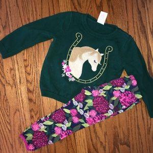 Gymboree Horse Sweater and Leggings